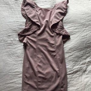 Love Culture Lavender Lace Bodycon Dress